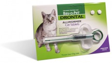 DRONTAL CAT WORMER W APPLICATOR 2 TAB'S Claws n Paws Pet Supplies