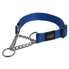 Rogz Obedience Half Check Collar Reflective Blue Claws n Paws Pet Supplies