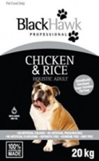 BlackHawk Chicken and Rice 20kg Claws n Paws Pet Supplies