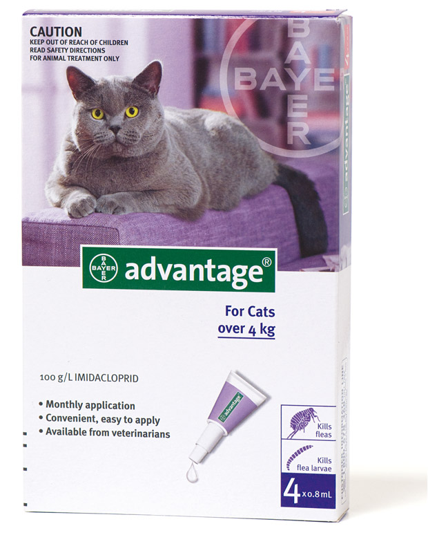 ADVANTAGE CAT LARGE PURPLE 4pk - Claws'n'Paws Pet Supplies