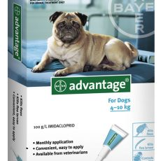 ADVANTAGE DOG 4 - 10kg BLUE 6pk Claws n Paws Pet Supplies