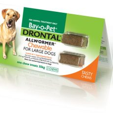 DRONTAL CHEWABLE 35KG 2'S Claws n Paws Pet Supplies