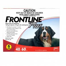 FRONTLINE PLUS X LG DOG RED 6'S Claws n Paws Pet Supplies