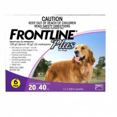 FRONTLINE PLUS LARGE DOG PURPLE 6'S Claws n Paws Pet Supplies