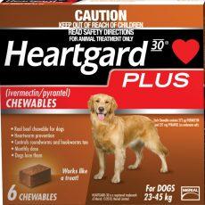 HEARTGARD PLUS LGE DOG BROWN 6'S Claws n Paws Pet Supplies