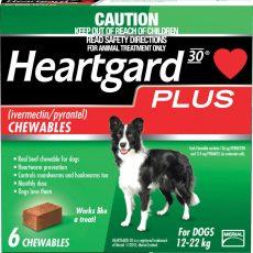 HEARTGARD PLUS MED DOG GREEN 6'S Claws n Paws Pet Supplies