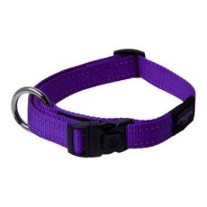 Rogz Side Release Collar Reflective Purple Claws n Paws Pet Supplies