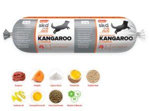 Prime 100 Kangaroo and Pumpkin 2kg Dog Roll