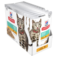 Hill's Science Diet Adult Perfect Weight Chicken Cat Food pouches 85g Box