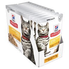 Hill's Science Diet Adult Urinary Hairball Control Chicken Cat Food Pouches 85g Box