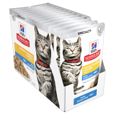 Hill's Science Diet Adult Urinary Hairball Control Ocean Fish Cat Food Pouches 85g Box