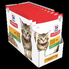 Hill's Science Diet Kitten Chicken Cat Food pouches 85g Box