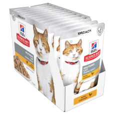 Hill's Science Diet Young Adult Neutered Cat Chicken Cat Food Pouches 85g Box