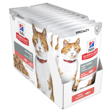 Hill's Science Diet Young Adult Neutered Cat Salmon Cat Food Pouches 85g Box